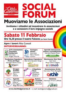 Sabato vi aspettiamo al Teatro Falcone (ex Sacro Cuore) per il Social Forum